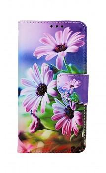 Knížkové pouzdro na iPhone 11 Fialové květy
