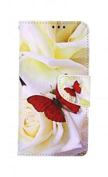 Knížkové pouzdro na iPhone 11 Červený motýl