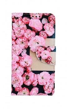 Knížkové pouzdro na iPhone 11 Růžové květy