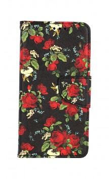 Knížkové pouzdro na iPhone 11 Květy růží