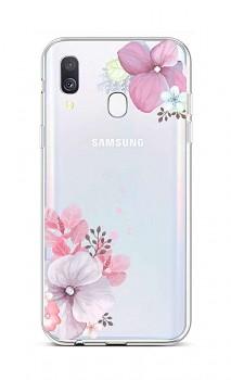 Zadní silikonový kryt na Samsung A40 Violet Blossom
