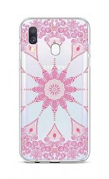 Zadní silikonový kryt na Samsung A40 Pink Mandala