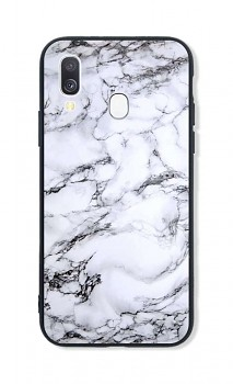 Zadní pevný kryt LUXURY na Samsung A40 Marble White