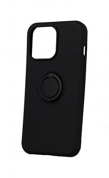 Zadní silikonový kryt RING na iPhone 13 Pro černý