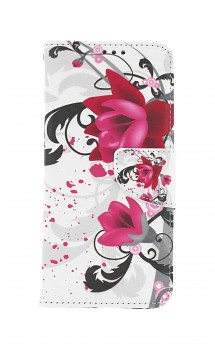 Knížkové pouzdro na Realme 8 Květinová kresba