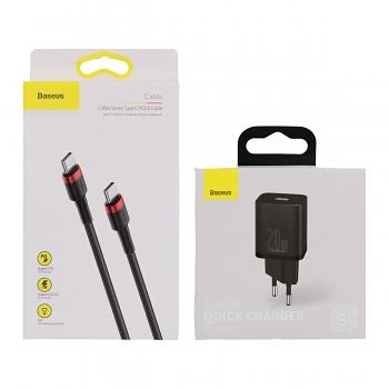 Rychlonabíječka Baseus Super Si 20W včetně datového kabelu USB-C černá