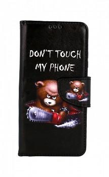 Knížkové pouzdro na Xiaomi Redmi Note 8T Don't Touch méďa