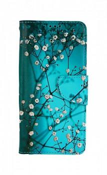 Knížkové pouzdro na Xiaomi Redmi Note 10 5G Modré s květy