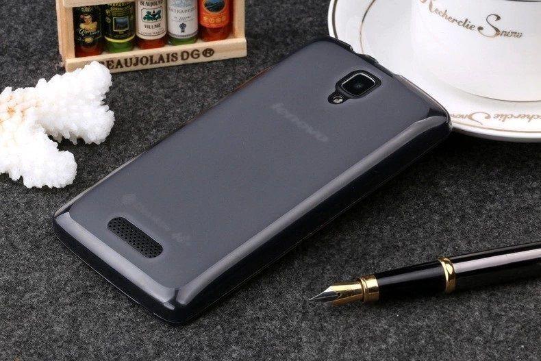 Pouzdro TopQ Lenovo A2010 silikon tmavý (kryt neboli obal na mobil Lenovo A2010)