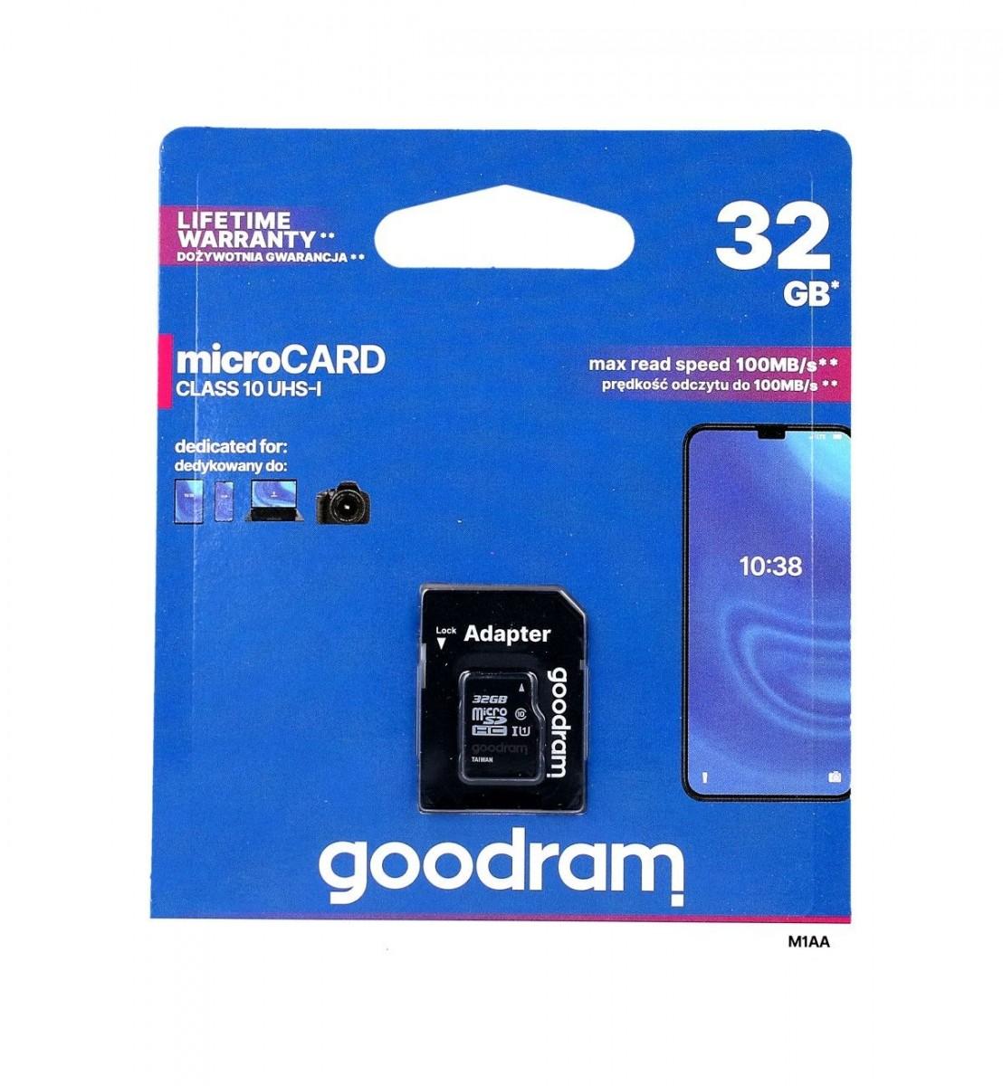 Paměťová karta GOODRAM 32GB Class 10