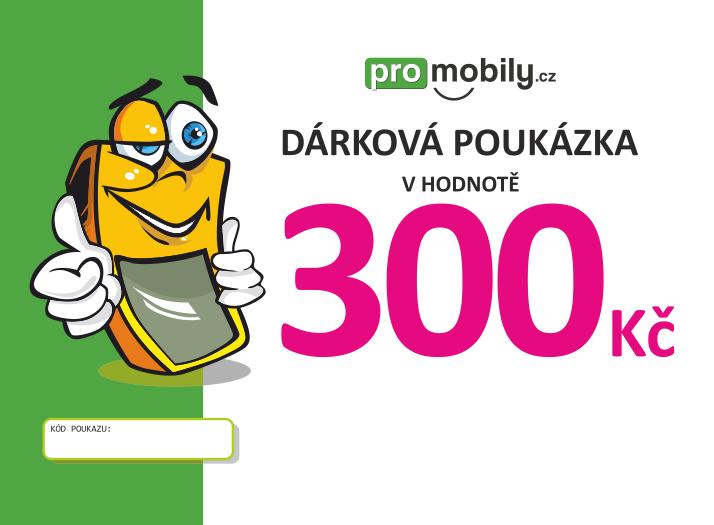 Dárková poukázka ProMobily.cz na 300 Kč