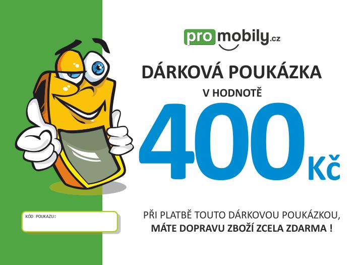 Dárková poukázka ProMobily.cz na 400 Kč