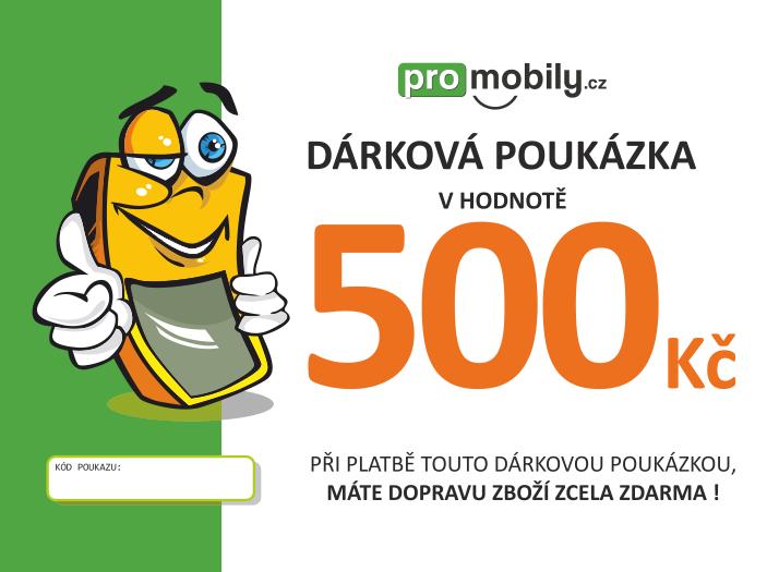 Dárková poukázka ProMobily.cz na 500 Kč